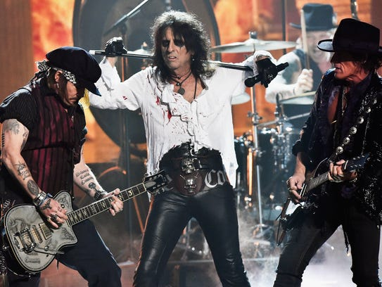 Actor/musician Johnny Depp, singer Alice Cooper and