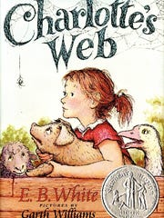 The book jacket of 'Charlotte's Web' by E.B. White.