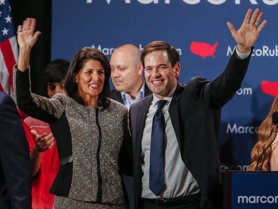 Florida Sen. Marco Rubio along with South Carolina