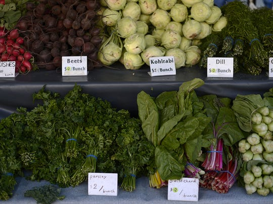 About a third of all vendors at the Farmers Market on Broadway this year are produce growers.