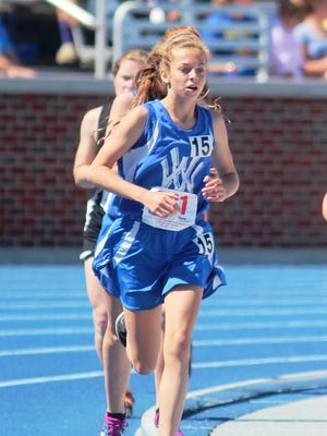 Walton-Verona's McCall Ponzer took first in the 800 meters at the  North Central Kentucky Conference track and field championships.