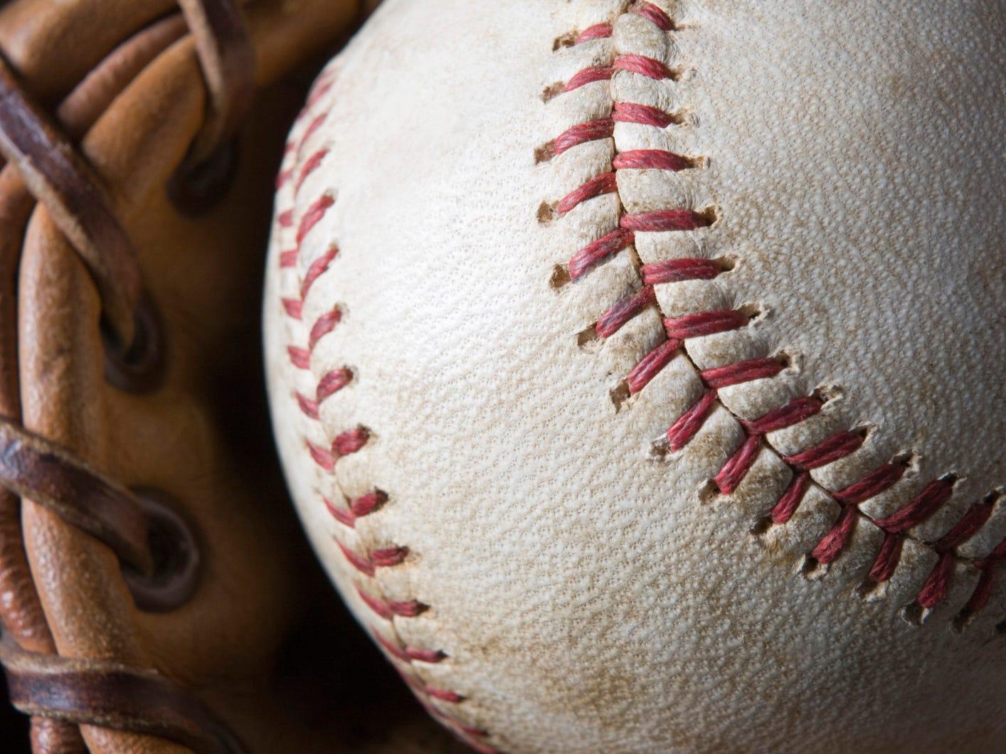 Baseball with mitt
