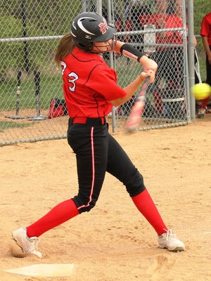 Kelsey Seitz hit her fourth home run of the season in Milford's 5-4 win over Harrison in 11 innings Tuesday.