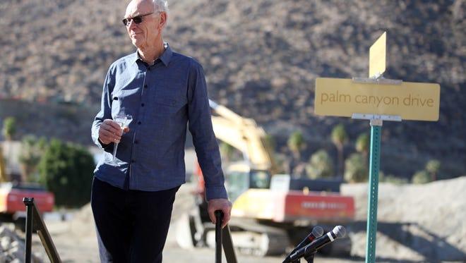 Marilyn Chung/The Desert Sun Developer John Wessman attends the groundbreaking ceremony for the Desert Fashion Plaza redevelopment project.