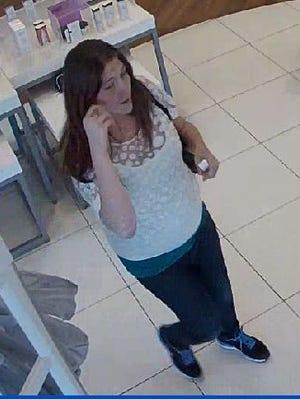 The female suspect.