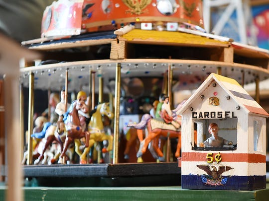 The model is the creation of Joe Prisco, a former employee whose tenure at Palisades Amusement Park began in the 1920s. His first job was managing a ride in which children rode in carts pulled by goats.