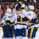 Predators pick up points on road at record rate