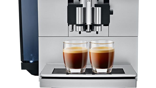 Coffee lovers will revel in the technology of the Jura Z6 Automatic Coffee Center, which can make 12 specialty drinks including macchiato.