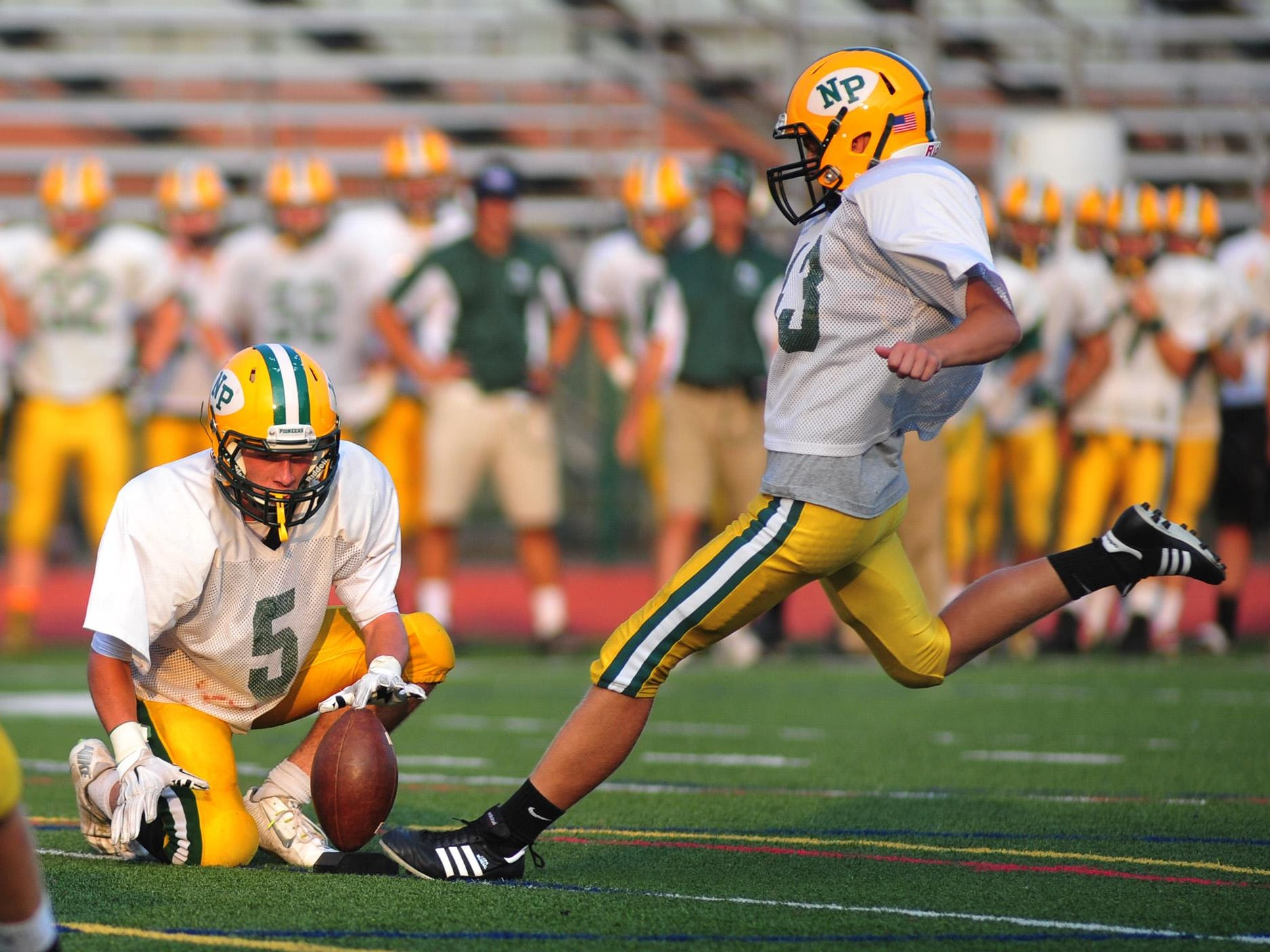 The New Providence football team is currently 7-0 and second in the Valley Division behind Brearley.