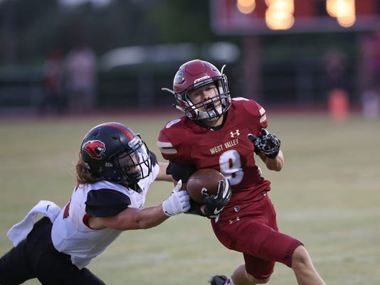 Greg Barnette/Record SearchlightFoothill tops West Valley 23-17.