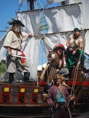 Blackbeard's pirate ship.