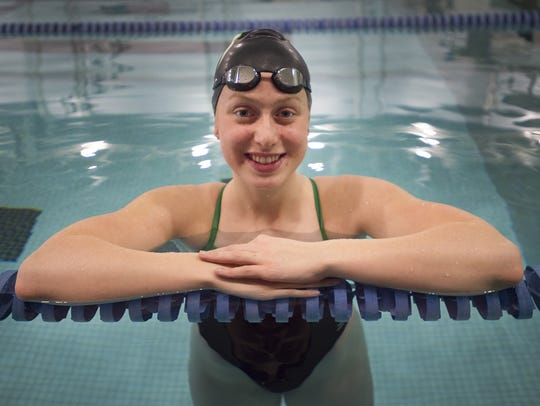 Former Fossil Ridge and current Stanford swimmer Zoe Bartel, shown in a file photo, was recently named the Colorado Sports Hall of Fame High School Athlete of the Year.
