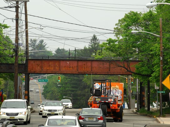 The West Essex Trail trestle spanning Pompton Avenue
