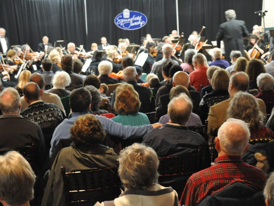 The 60-piece Cincinnati Civic Orchestra performs its