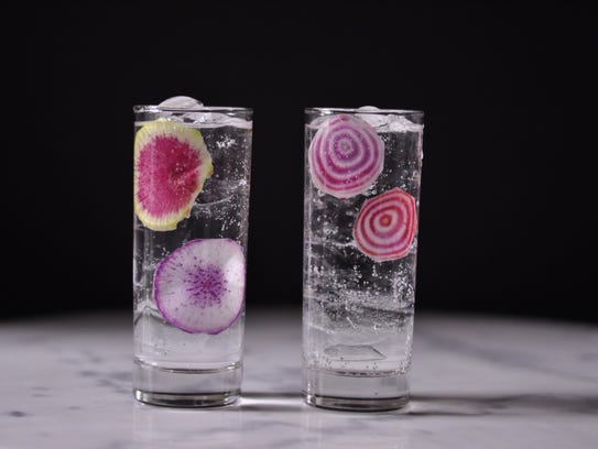 Add a pop of color to your drinks.