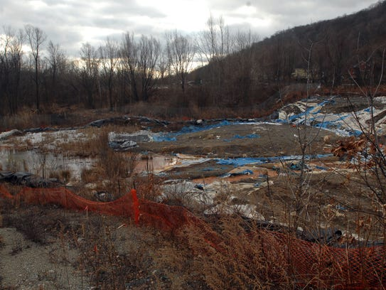 A tainted soil cleanup off Peters Mine Road in Ringwood