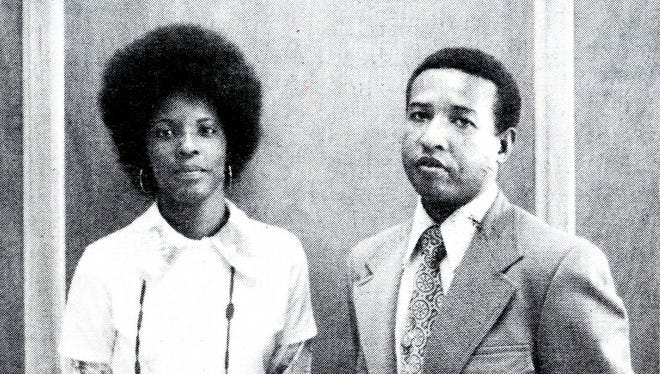 Isaac Coleman with his future wife, Wanda Henry, in 1977. From the Heritage of Black Highlanders Collection, UNC Asheville, Ramsey Library.