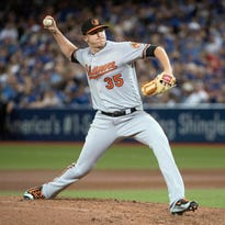 Orioles reliever Brad Brach is 7-2 with two saves and a 1.59 ERA. His career ERA is 2.92.