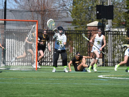 Hannah George, Le Moyne College goaltender and Maine-Endwell graduate.
