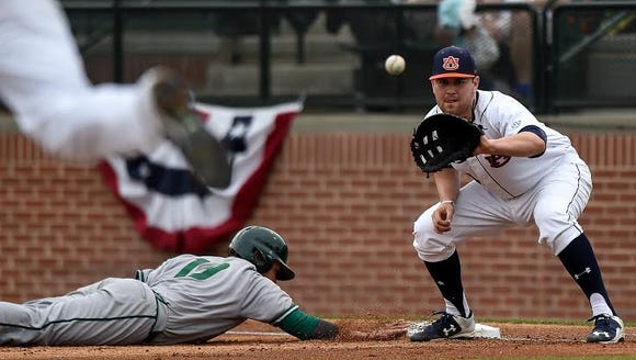Auburn first baseman Niko Buentello had 10 RBIs in