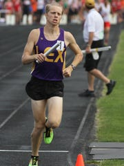 Nick Stricklen anchors Lexington to a Division II regional championship at home in the 4x800 meter relay, the only title race on Thursday.
