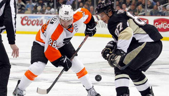 Claude Giroux and Sidney Crosby start a playoff series Wednesday, but will they be pitted against one another?