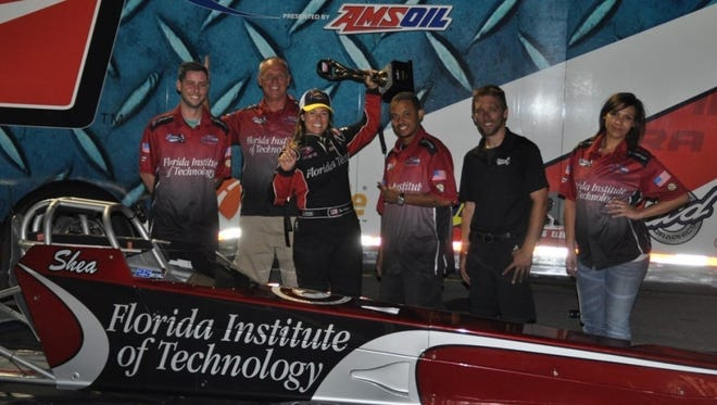 The Florida Tech jet dragster team.