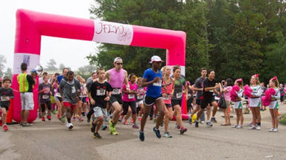 Runner start the annual Go Pink! 5K and 1-Mile Fun Run last year. The race is Oct. 11 this year. Be sure to sign up.