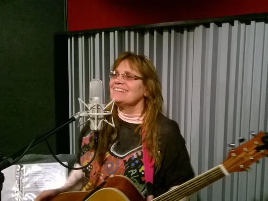 Singer and songwriter Janie Seeger.