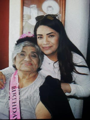 Mary Castro, left, is shown with her daughter, Rosie Davis. Castro, 75, died in May at her nursing home in Irving after contracting the coronavirus.