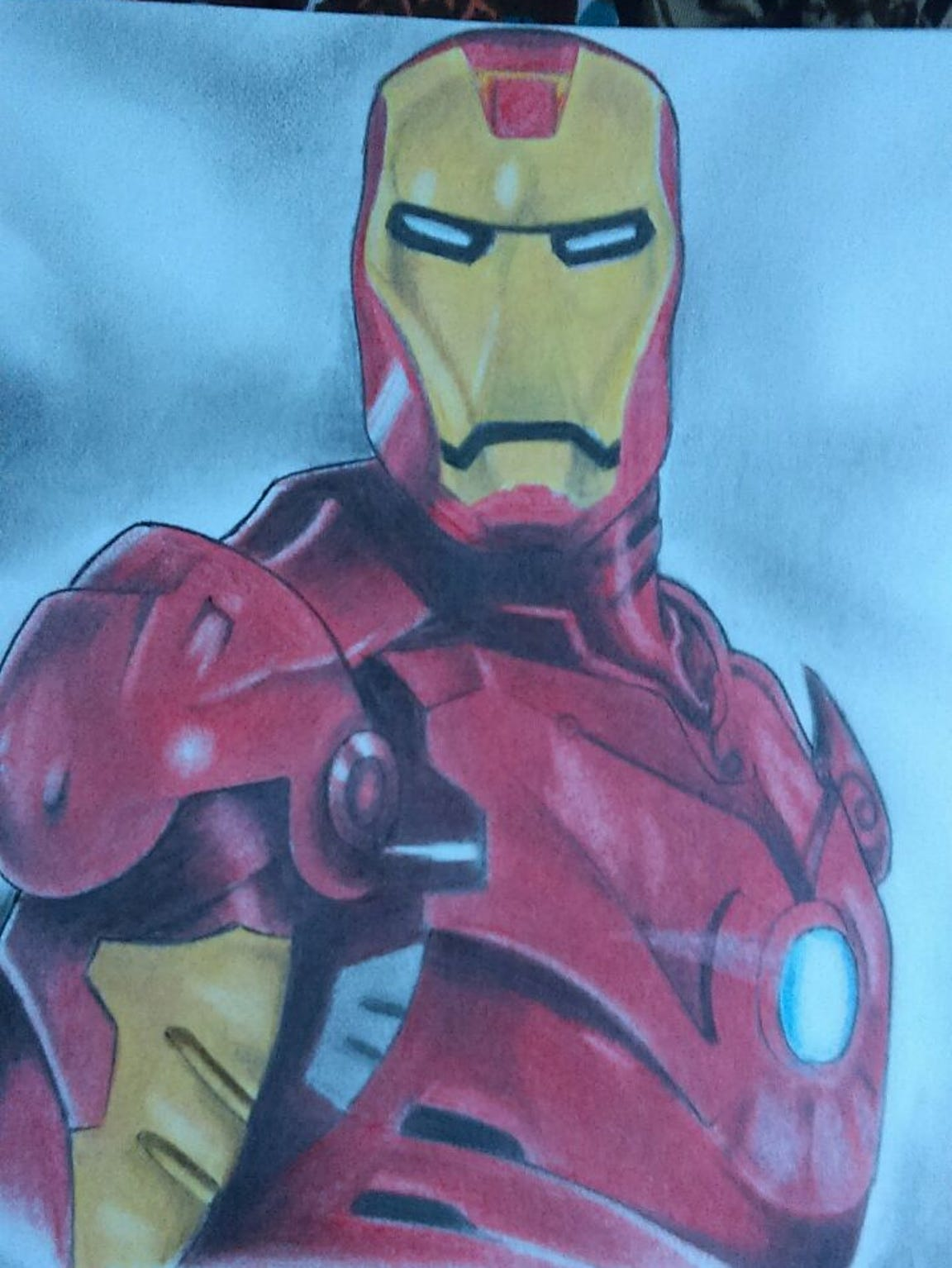 A pencil sketch drawn by Silvestre Segovia while in
