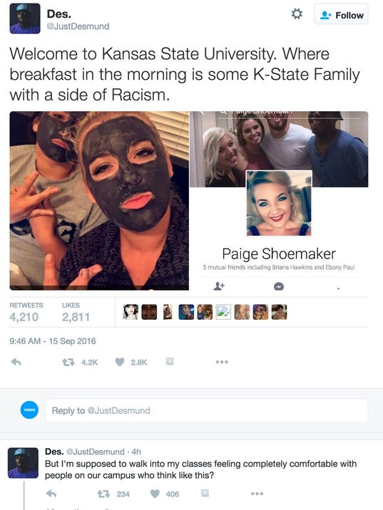 K-State disavows student's racist Snapchat