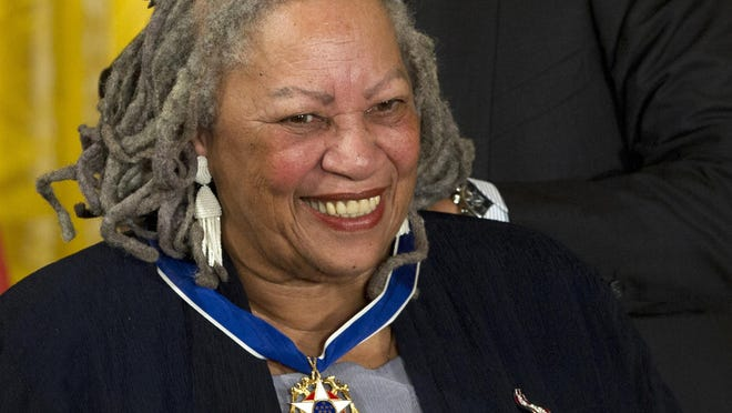Author Toni Morrison receives her Medal of Freedom award in May 2012 during a ceremony in the East Room of the White House in Washington. The Nobel Prize-winning author died Monday.