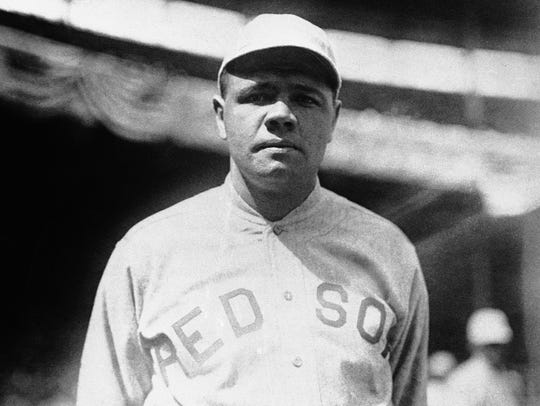 Babe Ruth as a member of the Boston Red Sox in 1919.