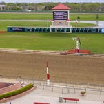 Prairie Meadows installed an improved digital display for scoring while getting ready in April for the 2016 racing season.