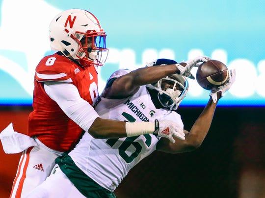 Michigan State quarterback wide receiver Aaron Burbridge