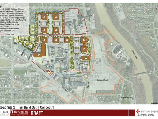 A conceptual development plan for the east end of Eastman