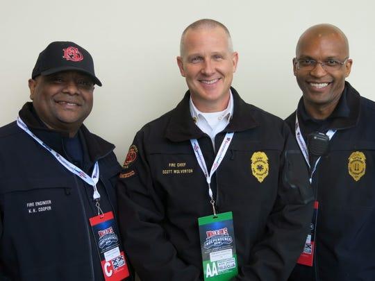 Shreveport Fire Department members: Korell Cooper,