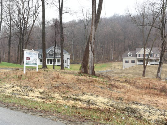 The Washington View residential housing development in the Town of Fishkill is seen from the Cary Road. Two neighboring property owners, across the street from Washington View, say drainage infrastructure installed by the developers has caused one property to lose water and another to be flooded.