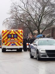 One suspect was taken into custody following a violent