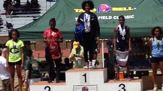 Roberson freshman Elyse King placed third in the triple jump today at the Taco Bell Classic track meet in Columbia, S.C.