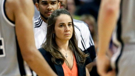 It's reported San Antonio Spurs assistant coach Becky Hammon will interview for the Bucks' head-coaching vacancy.
