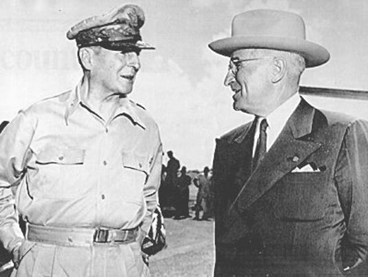 Douglas MacArthur and Harry S. Truman