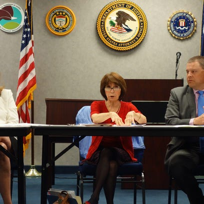 Local and federal officials talk about the state's