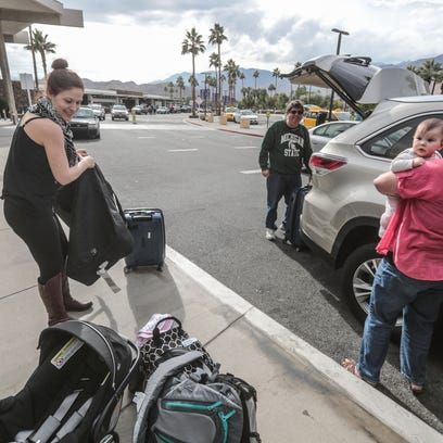 Mike and Dona Lally, of Rancho Mirage pickup their