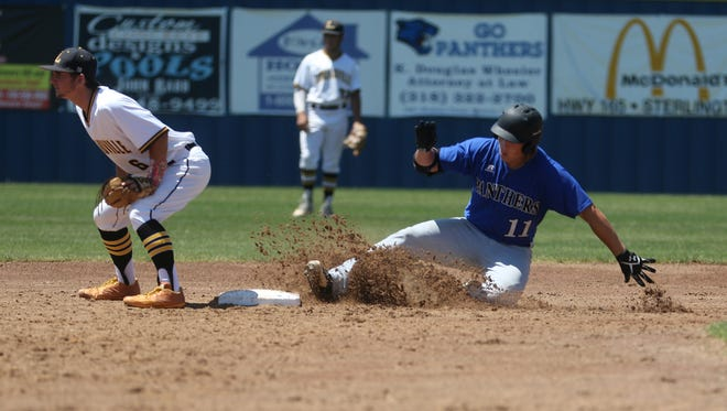 Jarrett McDonald (11) was 3-for-4 from the plate in Sterlington's 5-1 series-clinching win on Saturday over Loreauville.