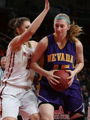 Nevada's Lexy Koudelka is one of a number of candidates for the Register's girls' basketball Player of the Year.