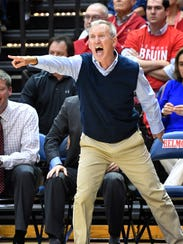 Belmont coach Rick Byrd yells instructions to his team
