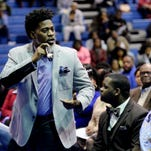 David Banner an American rapper, record producer, poet, actor and activist gave an enthusiastic talk at Southern University at Shreveport's Spring Convocation.