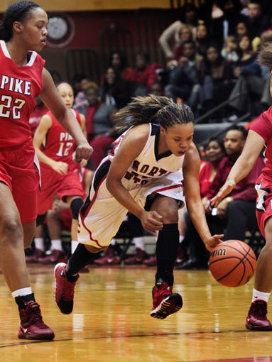 Pike girls 49, North Central 43